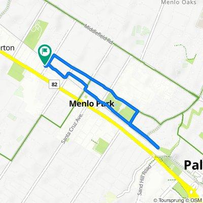 442 Encinal Ave, Menlo Park to 416 Encinal Ave, Menlo Park