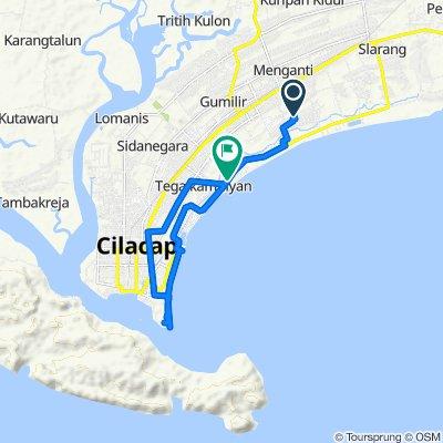 Jalan Komodo 354, Kecamatan Cilacap Utara to Jalan Lingkar Selatan 41, Kecamatan Cilacap Selatan