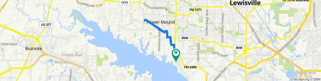 Restful route in Flower Mound