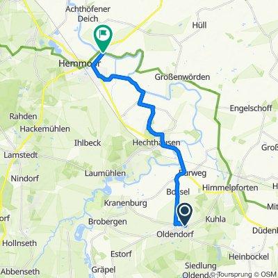 Ginsterweg 22, Oldendorf nach Deichstraße 1, Hemmoor