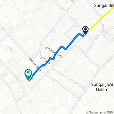 Gang Widodo 8, Kecamatan Pontianak Selatan to Jalan Komp Karya Indah II 31, Kecamatan Sungai Kakap