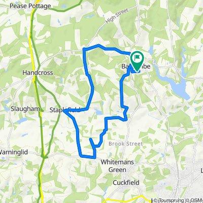 Little Abingdon, Oldlands Avenue, Haywards Heath to Little Abingdon, Oldlands Avenue, Haywards Heath