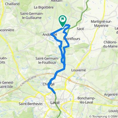 Crisp ride in Andouillé