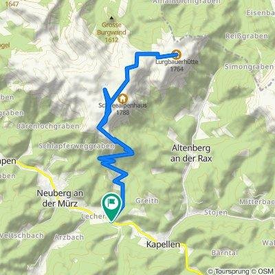 BergRadlTour auf der Schneealm im Naturpark Mürzer Oberland