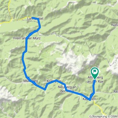 Mit dem E Bike auf den Lahnsattel im Naturpark Mürzer Oberland