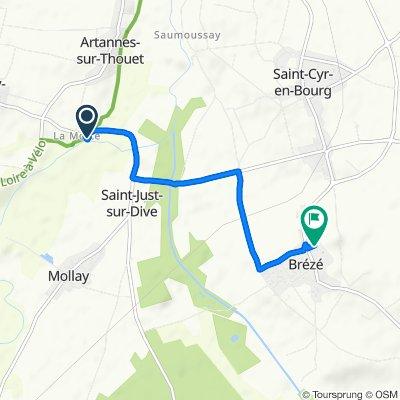 Steady ride in Artannes-sur-Thouet