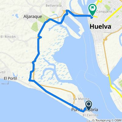High-speed route in Huelva