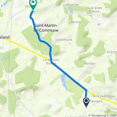 Itinéraire modéré en Saint-Martin-de-Commune