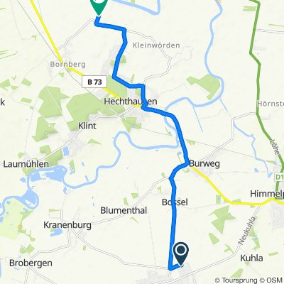 Langsame Fahrt in Oldendorf