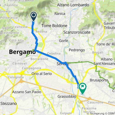 Da Via Galileo Galilei 10, Bergamo a Via Grinetta 4/B, Cassinone