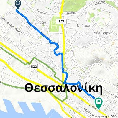 Γευγελής 48, Αμπελόκηποι to Μητροπολίτου Γενναδίου 8, Θεσσαλονίκη