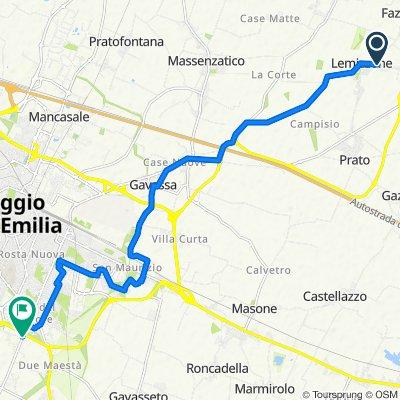 Da Via Lemizzone 22/b, Lemizzone a Largo Alessandro Blasetti 1/1, Reggio Emilia
