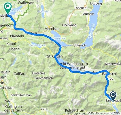 Goisern über Bad Ischl - Seekirchen