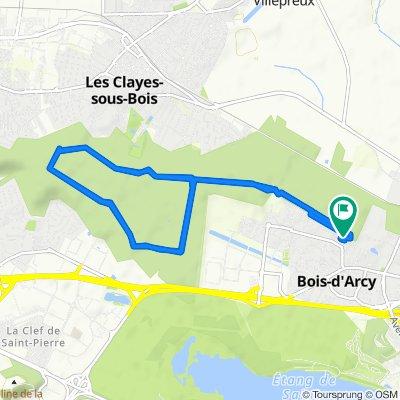 De 2 Impasse des Chardonnerets, Bois-d'Arcy à 2 Impasse des Chardonnerets, Bois-d'Arcy