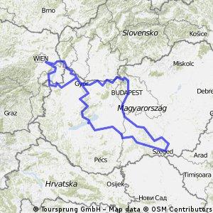 Fietsvakantie 2010 - rondje door Hongarije