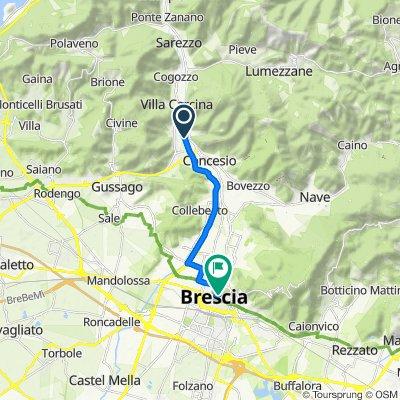Restful route in Brescia