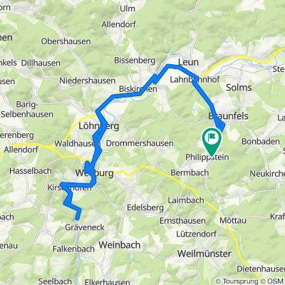 Lahntal-Radweg Braunfels - Weilburg - Gräfeneck