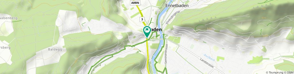 Moderate route in Baden