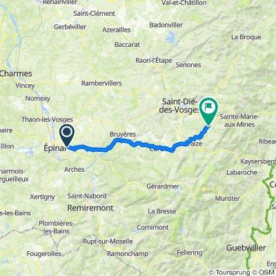 De 8–8A Route de Gérardmer, Épinal à 5 Chemin des Hauts Champs, Ban-de-Laveline