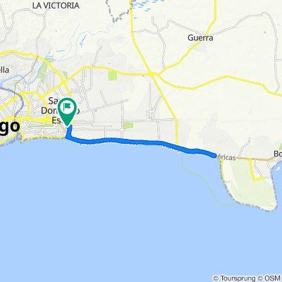 De Avenida 4ta, Santo Domingo a Avenida 4ta, Santo Domingo