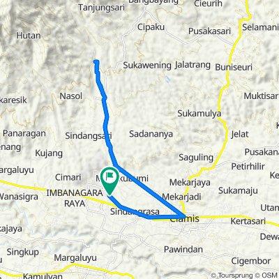 Jalan Kapten Heru Suryadi 62, Kecamatan Ciamis to Jalan Kapten Heru Suryadi 62, Kecamatan Ciamis