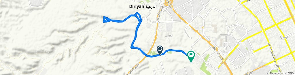 Restful route in الرياض