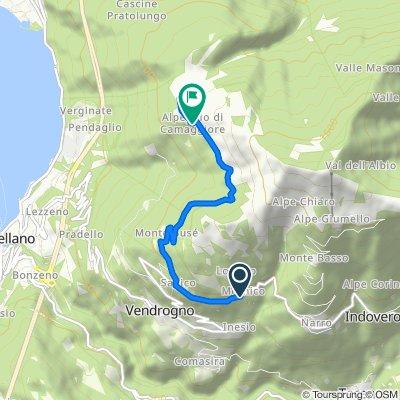 Da Strada Provinciale di Vendrogno, Mornico a Località Stalle di Camaggiore, Vendrogno