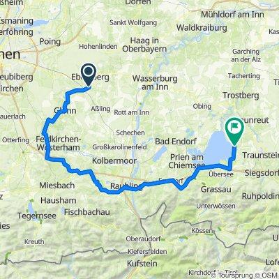 Grafing - Chieming über Irschenberg