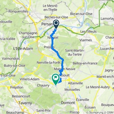 De 17 Rue de Boyenval, Beaumont-sur-Oise à Route du Golf, Baillet-en-France