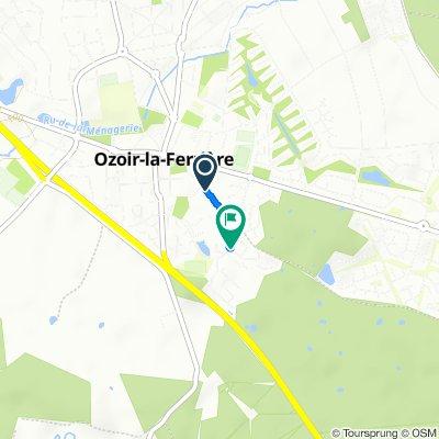 Relaxed route in Ozoir-la-Ferrière