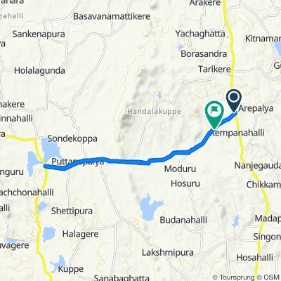 Moderate route in Tumkur