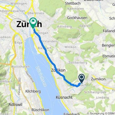 Chrummwisstrasse 70, Küsnacht ZH nach Neumarkt 19, Zürich