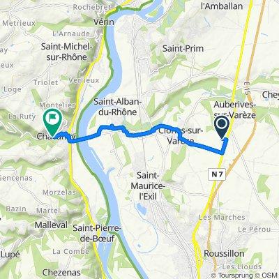 1 Chemin Le Petit Chemin, Clonas-sur-Varèze nach 25 Chemin des Vignes, Chavanay