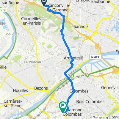 De 295 Rue du Général Leclerc, Franconville à 8–22 Avenue de Verdun 1916, La Garenne-Colombes