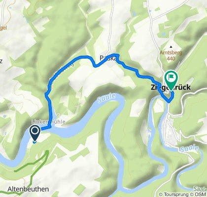 Altenroth 32–35, Altenbeuthen nach Straße der Einheit 6, Ziegenrück