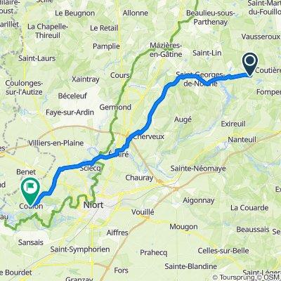 De Le Bourg 3, Chantecorps à Place de l'Église 30b, Coulon