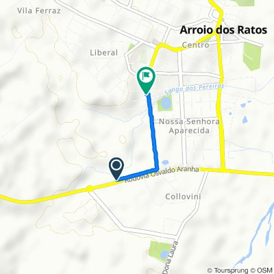 Relaxed route in Arroio dos Ratos
