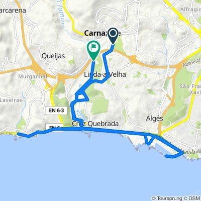 Rua da Quinta das Acácias 6, Carnaxide to Autoestrada da Costa do Estoril, Oeiras