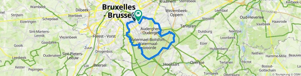 Steady ride in Etterbeek