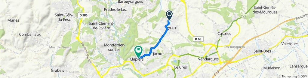 De 11 Rue de la Vaugely, Teyran à 5 Rue de Vendargues, Clapiers