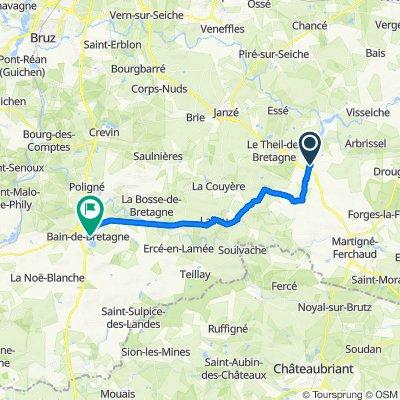 De 7 Rue Édith Piaf, Retiers à 13–27 Rue du Pavé, Bain-de-Bretagne