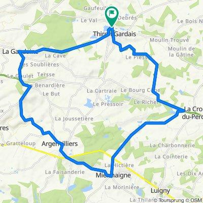 De Rue de l'Abbaye 20, Thiron-Gardais à Rue de l'Abbaye 20, Thiron-Gardais