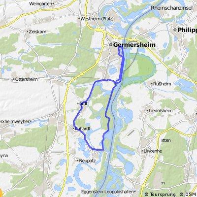 Rundfahrt Hördt - Leimersheim - Germersheim