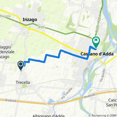 Da Via Buonarroti 48, Trecella a Viale Carlo d'Adda 4–4B, Cassano d'Adda