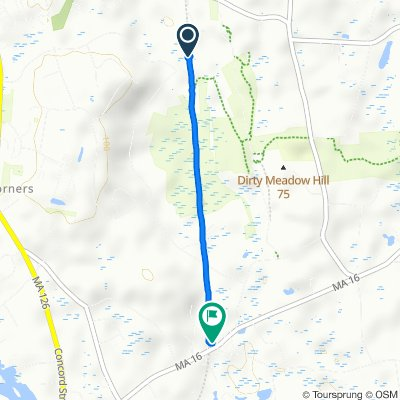208 Mohawk Path, Holliston to 91 Washington St, Holliston
