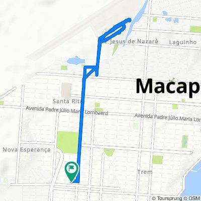 De Avenida Felipe Camarão, 1602, Macapá a Avenida Felipe Camarão, 1600, Macapá