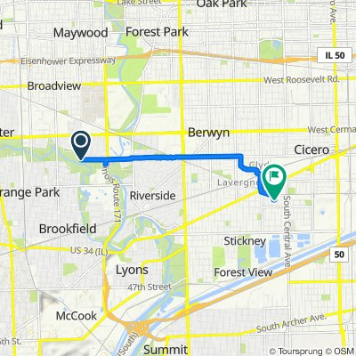 9187–9199 W 26th St, Brookfield to 3329 S 58th Ave, Cicero