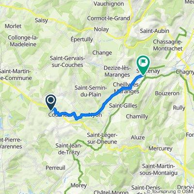 Itinéraire modéré en Santenay