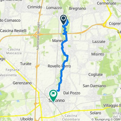 Relaxed route in Saronno