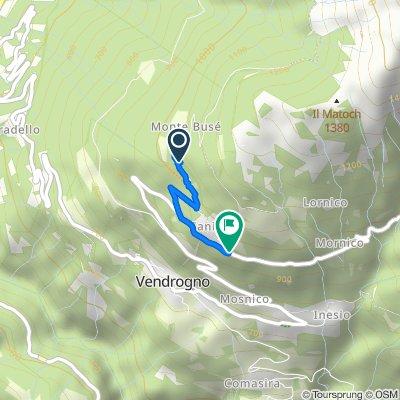 Moderate route in Vendrogno